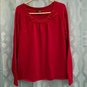 East 5thWomen's red  XL long sleeve top, pullover